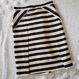 Eva Franco Black & White Striped Skirt sz 0